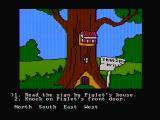 Winnie the Pooh in the Hundred Acre Wood DOS Piglet's home (CGA composite mode)