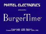 BurgerTime PC Booter Title screen (CGA with composite monitor)