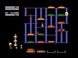 BurgerTime PC Booter The first level (CGA with composite monitor)