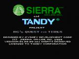 BC's Quest for Tires PC Booter Title screen (CGA composite mode)