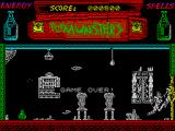 The Munsters ZX Spectrum Game Over