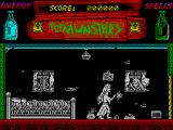 The Munsters ZX Spectrum Shooting the first monster