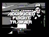 Chuck Yeager's Advanced Flight Simulator DOS Title screen (CGA composite mode)