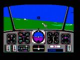 Chuck Yeager's Advanced Flight Simulator DOS Flying (CGA composite mode)