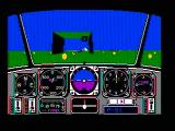 Chuck Yeager's Advanced Flight Simulator DOS Fly through the gates. (CGA composite mode)