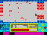 Android One: The Reactor Run ZX Spectrum Second screen with stationary obstacles that cannot be shot, but they won't kill the Android if run into.
