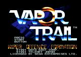 Vapor Trail Genesis Title screen