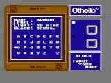 Othello NES Set up the players for a new game