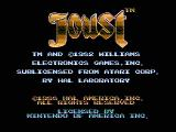 Joust NES Title screen