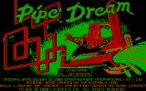 Pipe Dream DOS Title screen (CGA)