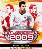 Real Football 2009 J2ME Title screen