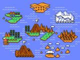 Adventure Island II NES World map