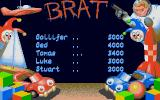 Brat Atari ST The High Score table
