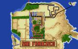 Cisco Heat: All American Police Car Race Atari ST Progress map