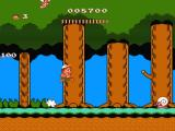 Adventure Island II NES Snaily level