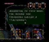 Demon's Crest SNES This gargoyle explains what each Talisman is good for