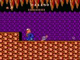 Adventure Island II NES Skeletony level