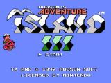 Adventure Island 3 NES Title screen