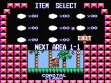 Adventure Island 3 NES Choosing an item before entering a level.