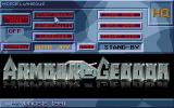 Armour-Geddon Atari ST Main menu
