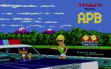 APB Atari ST Title screen