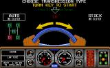 Hard Drivin' Atari ST Select transmission type