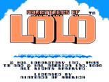 Adventures of Lolo NES Title