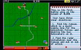 Pacific Islands Atari ST Mission map with objectives