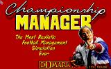 Championship Manager Atari ST Title screen