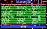 Championship Manager Atari ST Team selection screen