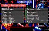 Championship Manager Atari ST Select your personality