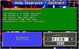 Championship Manager Atari ST Writing a contract