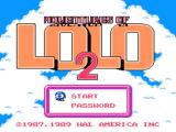 Adventures of Lolo 2 NES Title