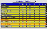 Brian Clough's Football Fortunes Atari ST League table