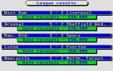 Brian Clough's Football Fortunes Atari ST League results