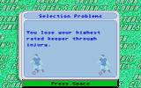 Brian Clough's Football Fortunes Atari ST Selection problem: Lost my goal keeper