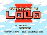 Adventures of Lolo 3 NES Title