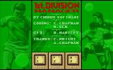 1st Division Manager Atari ST Title screen