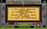 Castle Master Atari ST Welcome message