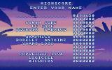 Les aventures de Carlos Atari ST The high score table