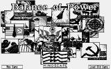 Balance of Power Atari ST Title screen