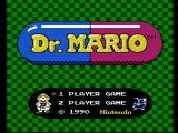 Dr. Mario NES Title screen