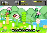 Super Fantasy Zone Genesis Shooting at an enemy.