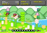 Super Fantasy Zone Genesis An enemy gets destroyed.