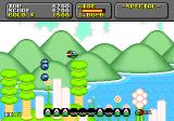 Super Fantasy Zone Genesis A formation of enemies