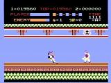Kung-Fu Master NES Smack, hit in the head with a boomerang!