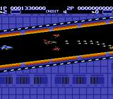Air Buster TurboGrafx-16 Flying through a narrow passage