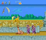 Altered Beast TurboGrafx-16 Trying to kick a flying enemy