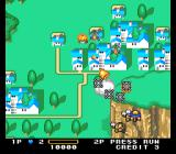 Detana!! TwinBee TurboGrafx-16 The first stage. Use bombs to attack enemies on ground.