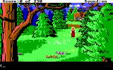 King's Quest IV: The Perils of Rosella DOS AGI: Walking along the country side.